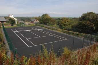Tennis court at chiddlecombe farm Bideford